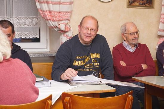 Feldgeschworener S. Kuhn bei seinem Vortrag